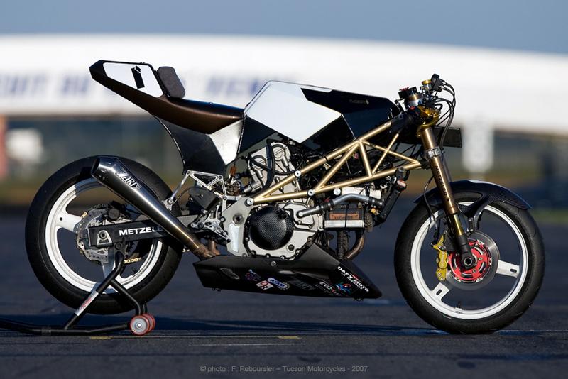 custom frame sv650 racer