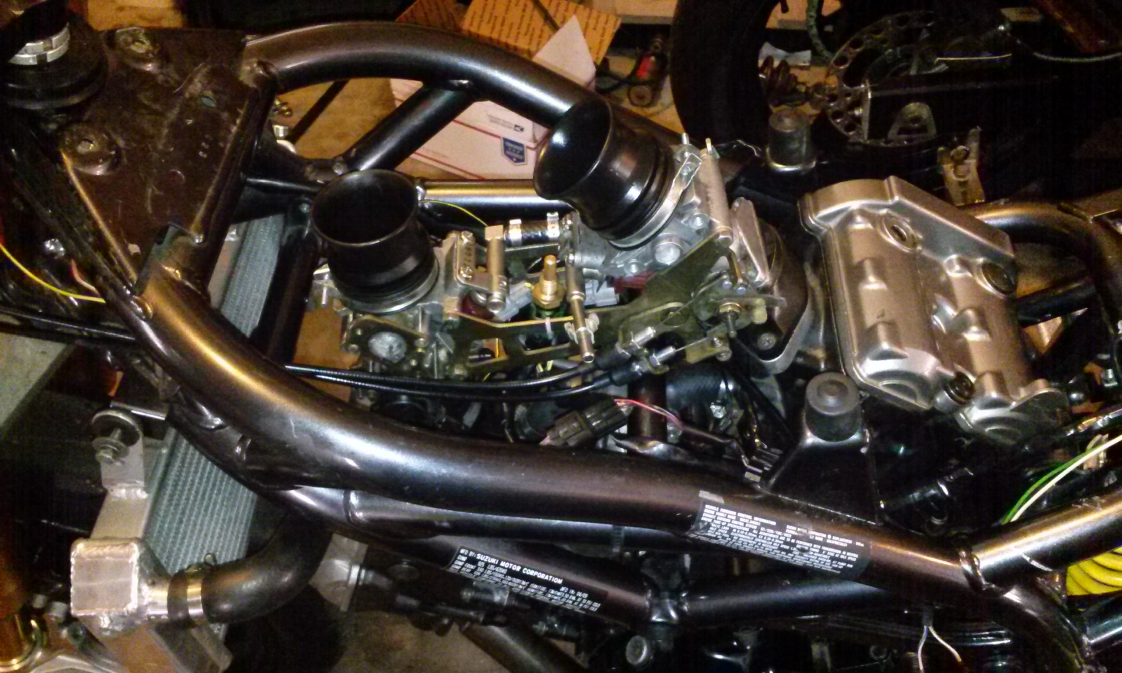 sv650 bored throttle bodies dl1000